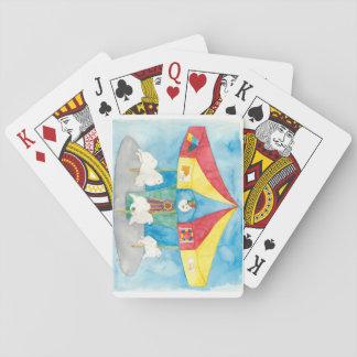 American Eskimo Carousel Playing Cards