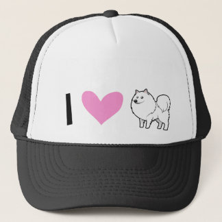 American Eskimo Dog / German Spitz Love Trucker Hat