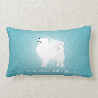 American Eskimo Dog Pet Loss Sympathy Design Lumbar Pillow