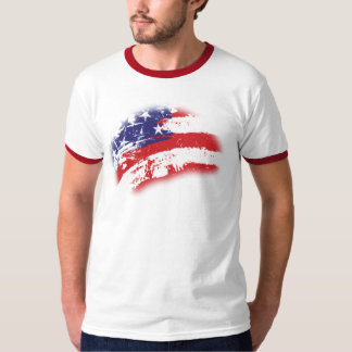 American Flag Abstract Distressed T-Shirt