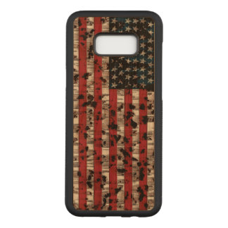 American Flag Aged Carved Samsung Galaxy S8+ Case