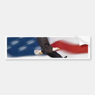 American flag and eagle bumper sticker
