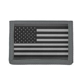 American Flag Camo Wallet Gray
