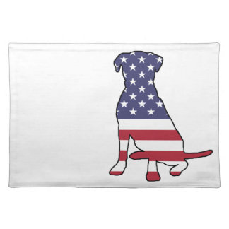 American Flag Dog Placemat