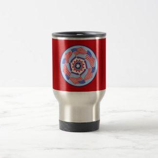 American Flag Dynamic Circle Travel Mug