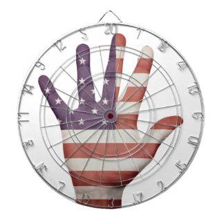 American Flag Hand Dartboard With Darts
