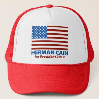 American Flag Herman Cain for President 2012 Trucker Hat