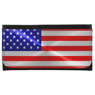 American Flag Leather Wallet