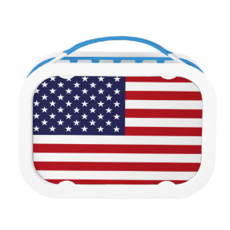 American Flag Lunch Box