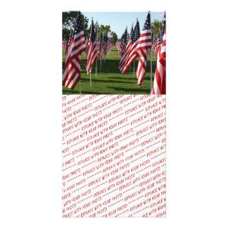American Flag Memorial 1 Picture Card