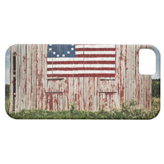 American flag painted on barn barely there iPhone 5 case
