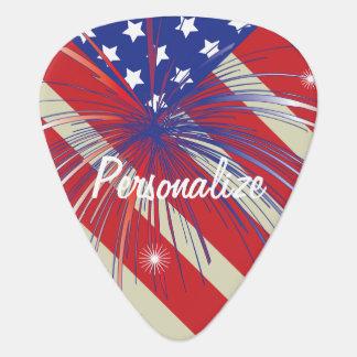 American Flag | Patriotic | DIY Text Guitar Pick