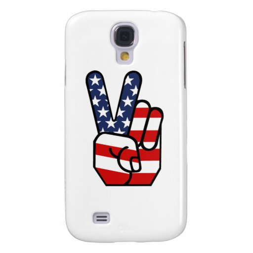 American Flag Peace Hand Galaxy S4 Cover