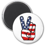 American Flag Peace Hand Fridge Magnets