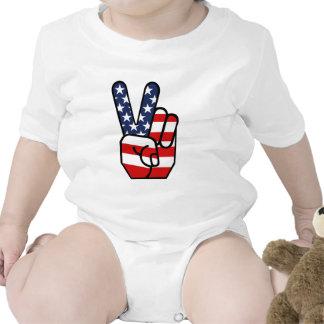 American Flag Peace Hand Creeper