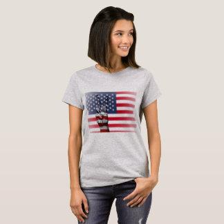American Flag Peace Sign Womens Shirt