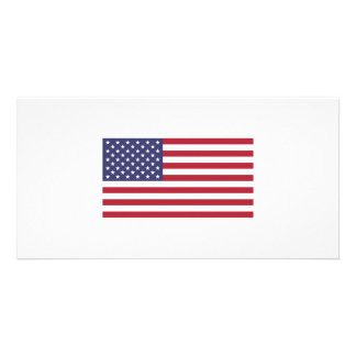 American Flag Personalised Photo Card