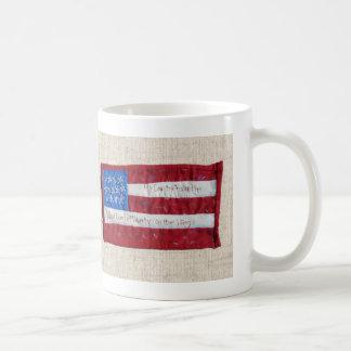 American Flag Quilt Mug