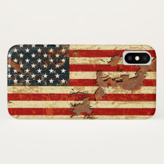 American Flag Rusted iPhone X Case