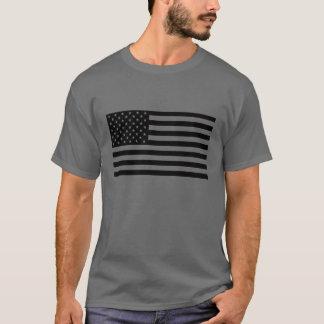 American Flag Shirt - Black Text