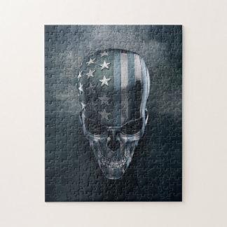 American Flag Skull Puzzle