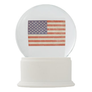 American Flag Snow Globe