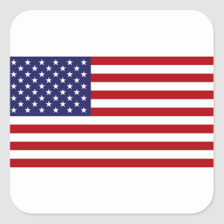 American Flag - Stars and Stripes - Old Glory Square Sticker