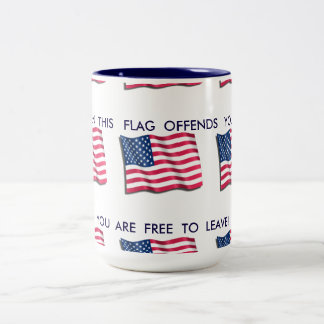 AMERICAN Flag Two-Tone Mug