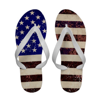 American Flag Vintage Grunge Sandals