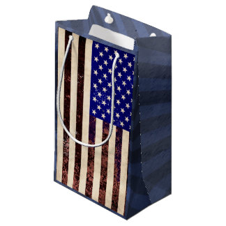 American Flag Vintage Grunge Small Gift Bag