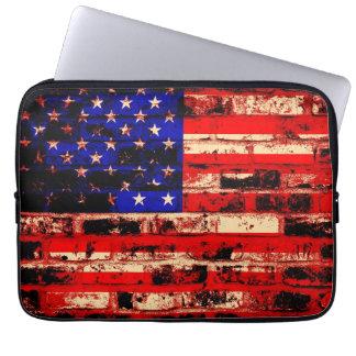 American Flag Vintage Laptop Sleeve
