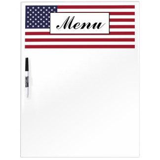 American Flag Wedding Menu Dry Erase Board