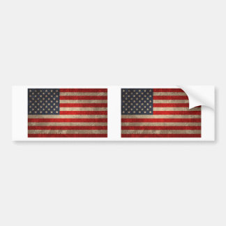 American Flag - xdist Bumper Sticker