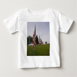 American flags in a row baby T-Shirt