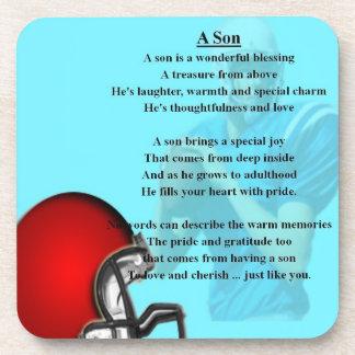 American football design Coaster - Son poem