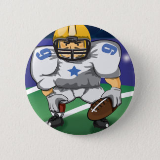 American football player 6 cm round badge