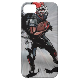 American football player holding football iPhone 5 cases