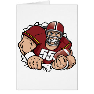American Football Player Note Cards