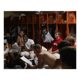 American football players including teenagers 2 poster