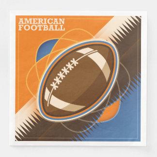 American Football Sport Ball Game Disposable Napkins