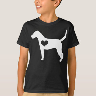 American Foxhound Heart Dark Kids T-Shirt