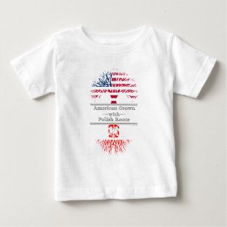 American Grown With Polish Roots Baby T-Shirt