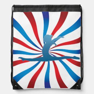 American Gymnast Drawstring Bag