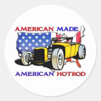 American Hotrod 1 Round Sticker