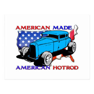 American Hotrod Chopped Postcard