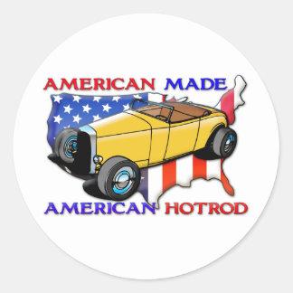 American Hotrod Round Sticker