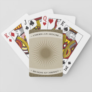 American House Playing Cards - Bronze