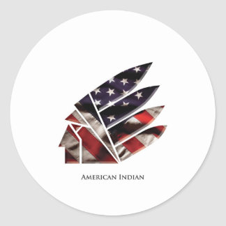 american indian classic round sticker