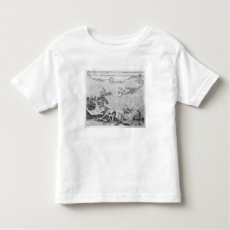 American Indian method of whaling, from an account Toddler T-Shirt