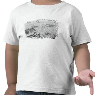 American Indian method of whaling, from an account T Shirt